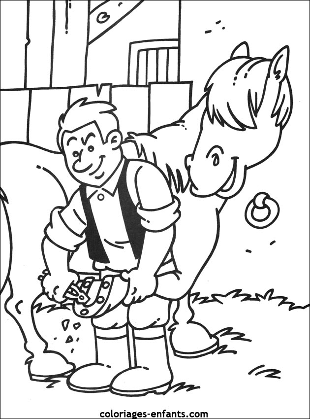 coloriages de la ferme