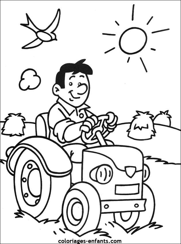 Coloriage Gratuit De Tracteur