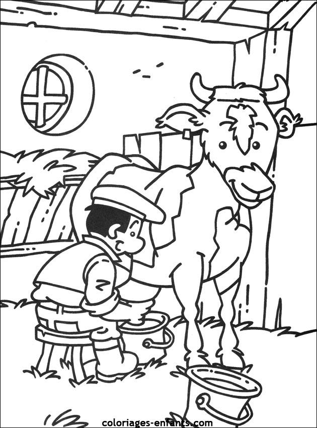 Exceptionnel Les Coloriages de la ferme à imprimer GJ64