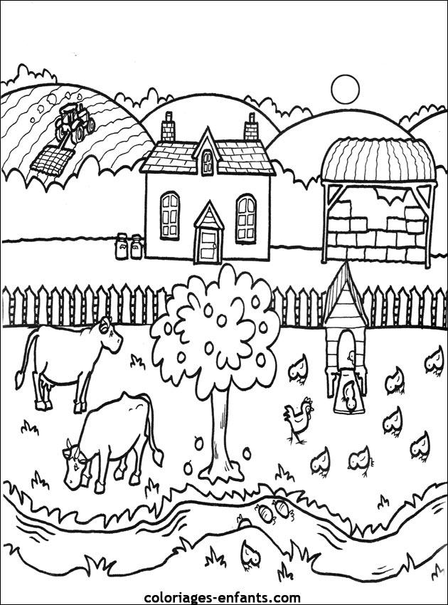 Bien-aimé Les Coloriages de la ferme à imprimer YO02