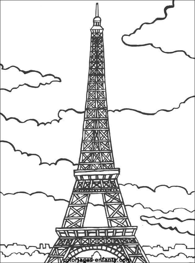 coloriage paris tour eiffel