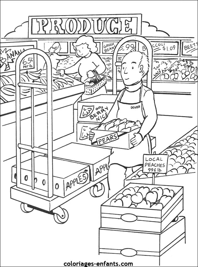 Coloriages du supermarch imprimer - Dessin boulangerie patisserie ...