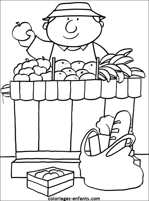 Coloriages de fruits et l gumes pour enfants - Dessiner un fruit ...