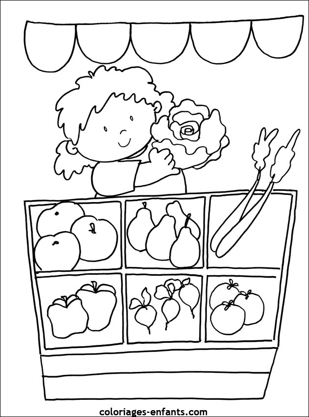 Coloriage imagier fruits et l gumes - Fruits a colorier et a imprimer ...