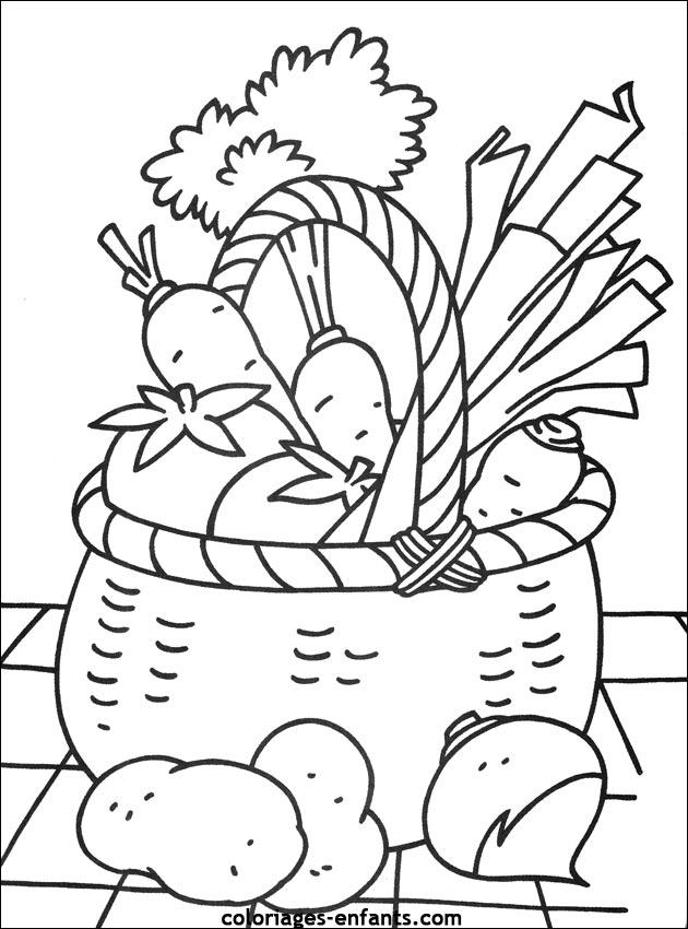 Coloriages de fruits et l gumes pour enfants - Dessin de legumes ...