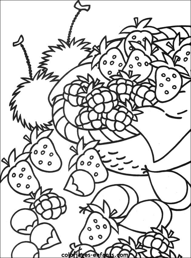 Comment dessiner des fruits - Fruits coloriage ...
