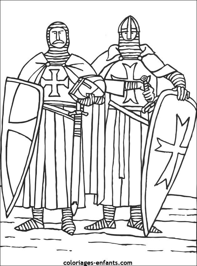 Les Coloriages De Chevaliers A Imprimer