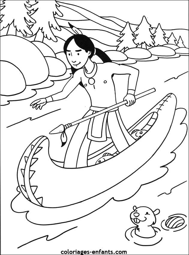 Les coloriages d 39 indiens imprimer - Coloriage indien ...