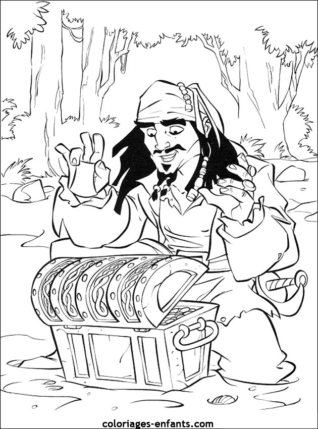 pirates of caribbean coloring pages - photo#32