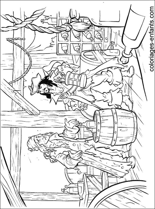 les coloriages de pirates - Coloriage De Pirate