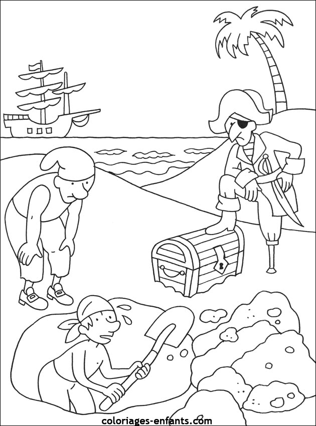 Les coloriages de pirates imprimer - Coloriage fille pirate ...