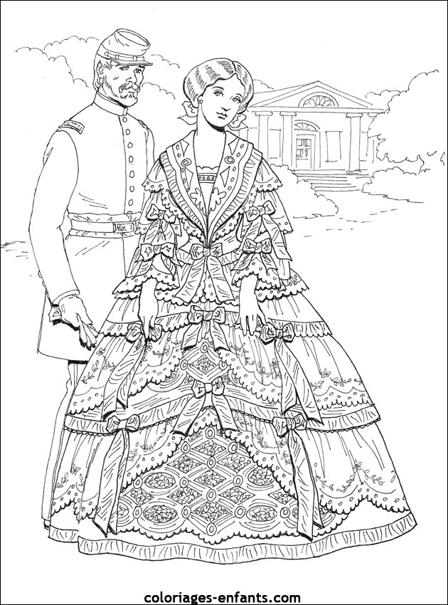 1000 ideas about adult belle costume on pinterest adult for Southern belle coloring pages