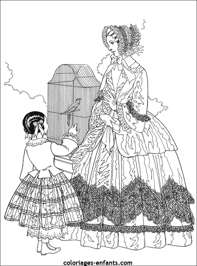 Victorian Dresses Dress Fashion And Coloring Pages On