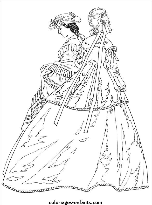 coloriages de princesses