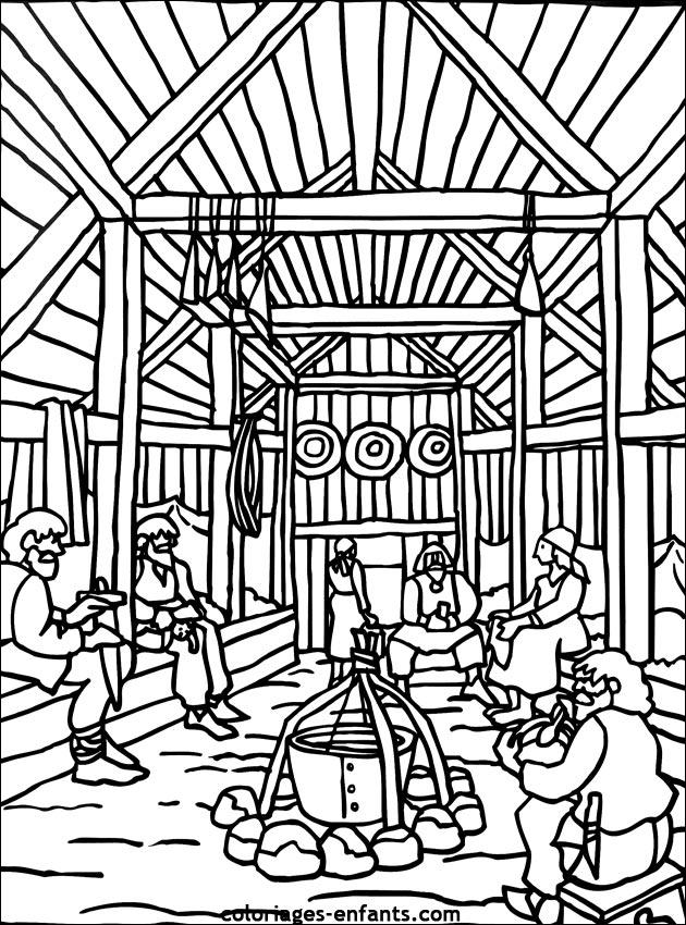 Les coloriages de vikings imprimer sur coloriages - Dessin de viking ...