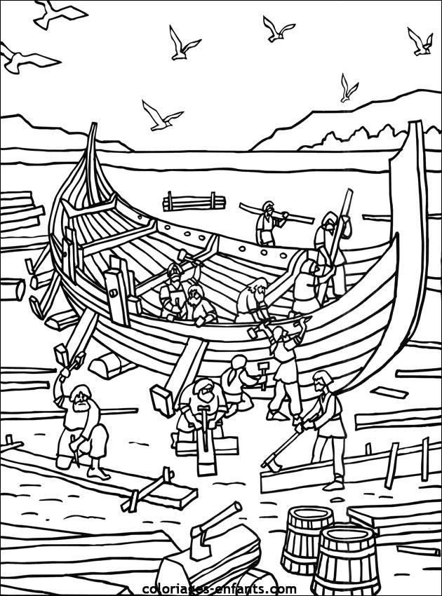 Les coloriages de vikings imprimer - Dessin de viking ...