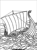 Coloriage Bateau Viking.Dessin Bateau Viking