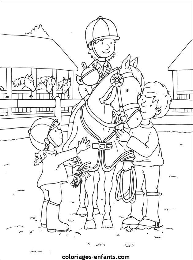 Index of rubrique sports images coloriages equitation - Chevaux a colorier ...