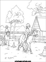 Coloriages d 39 quitation - Dessin du ranch ...
