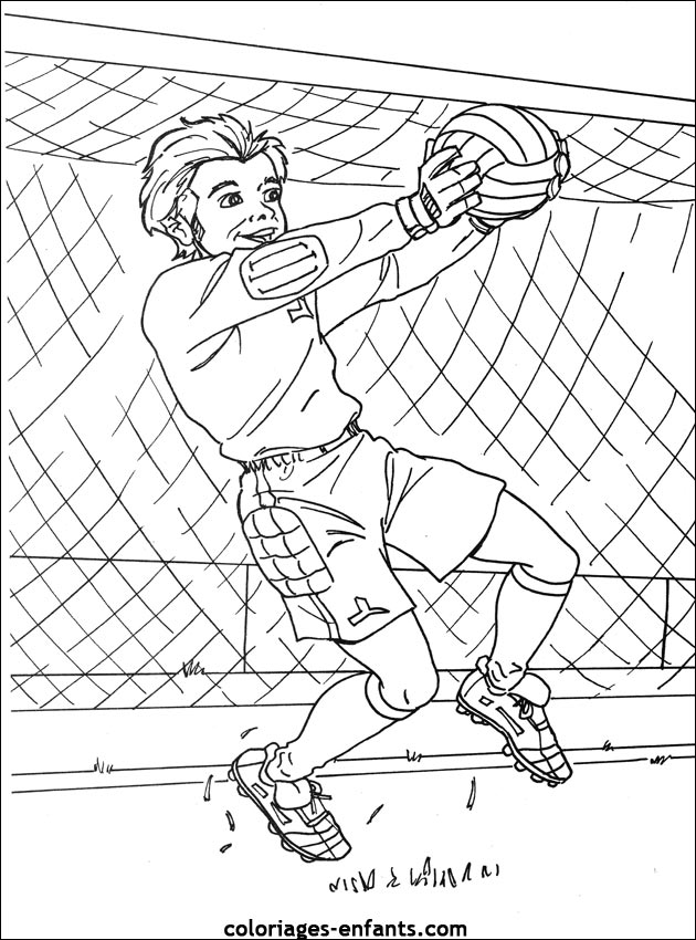 Les coloriages d 39 football imprimer sur coloriages - Coloriage gardien de foot ...