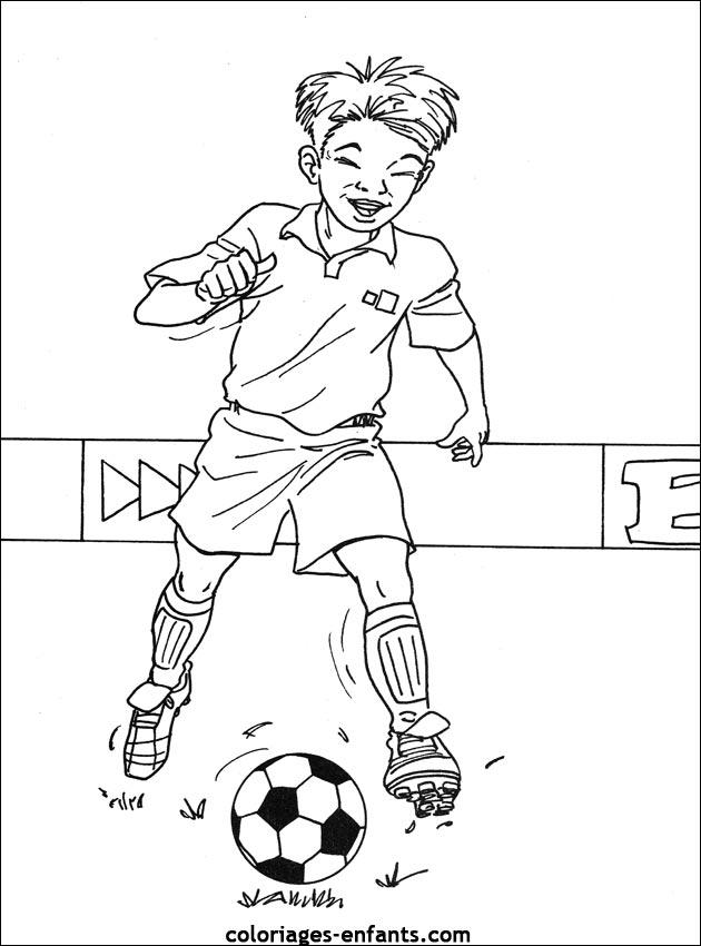 Coloriage De Foot Garcon.Les Coloriages De Football A Imprimer