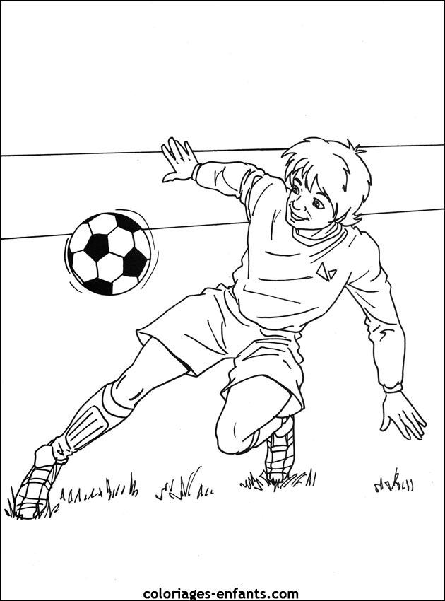 Les Coloriages de football à imprimer