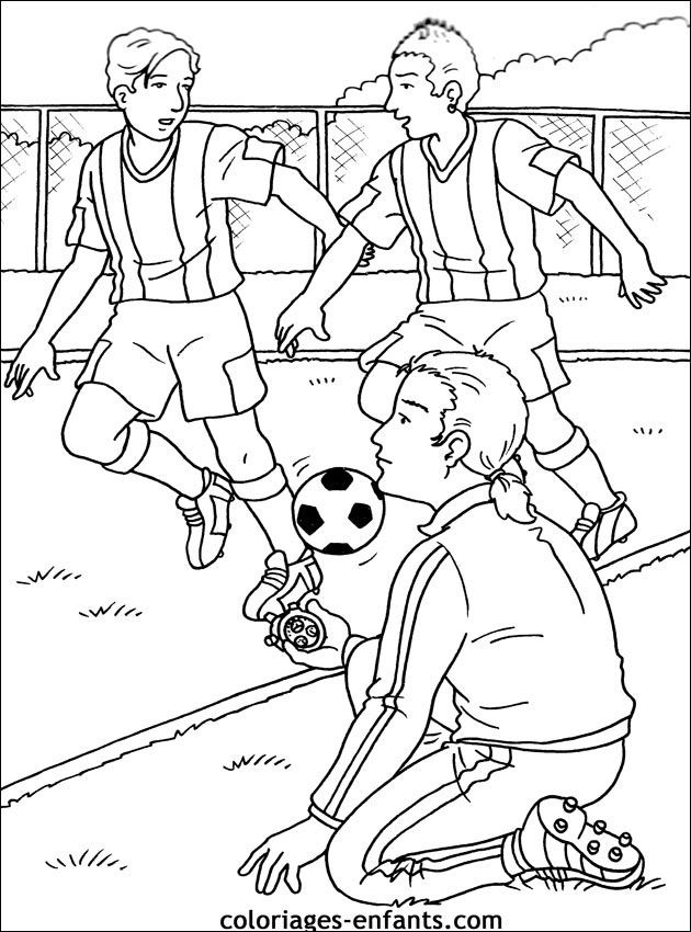 Dessin joueur de foot - Coloriage de foot ...