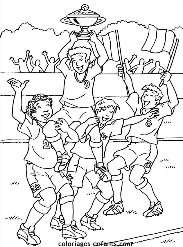 Les coloriages de football imprimer - Image de joueur de foot a imprimer ...