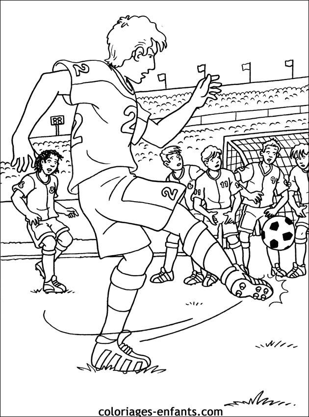 Les coloriages de football imprimer - Coloriage a imprimer footballeurs ...