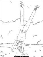 Coloriages et jeux de gymnastique - Coloriage gym ...