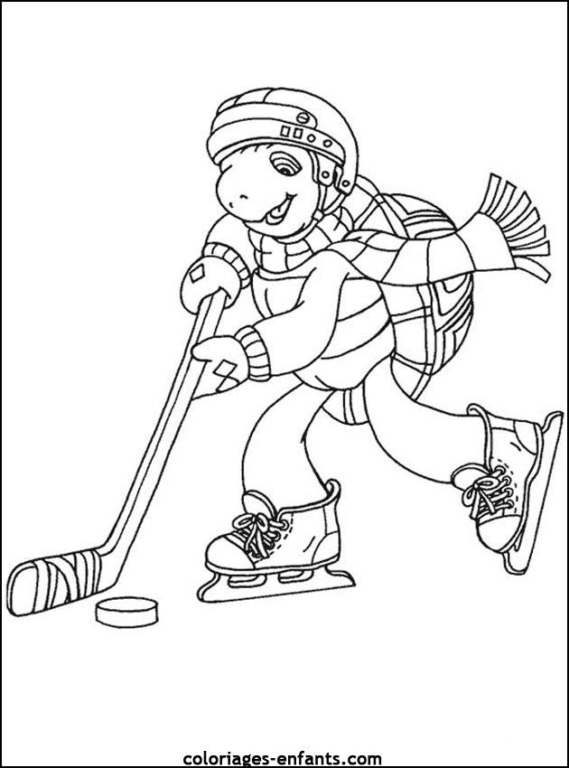 Coloriages de hockey imprimer sur coloriages - Dessin de hockey ...