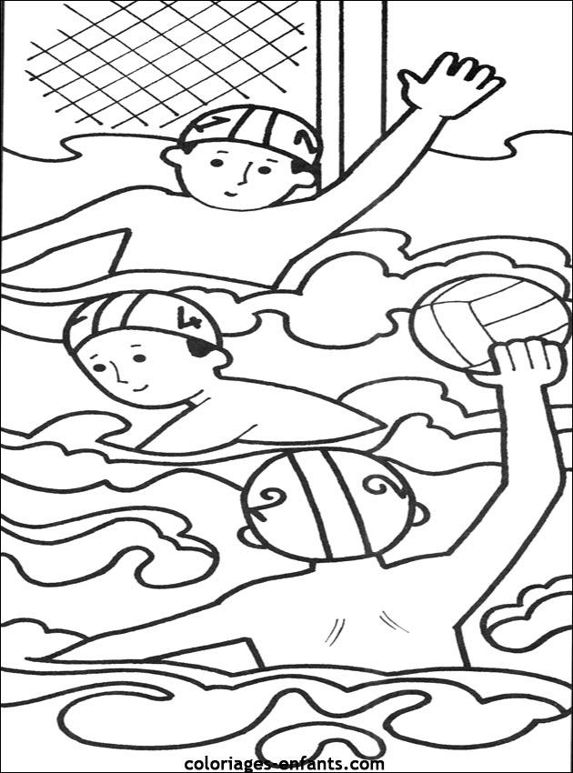 Les coloriages de natation sur imprimer sur coloriages - Natation dessin ...