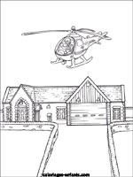 Coloriages et jeux de helicopteres - Dessin caserne pompier ...