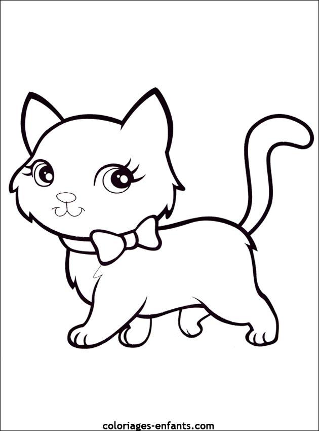 Coloriage de chat à imprimer pour enfants