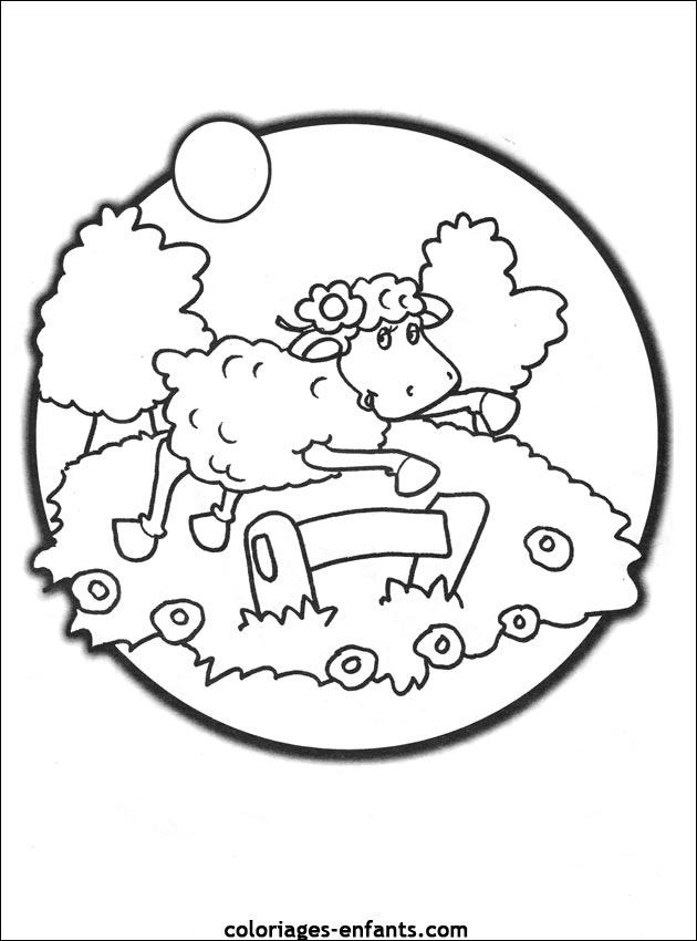 Coloriage De Moutons A Imprimer Sur Coloriages Enfants