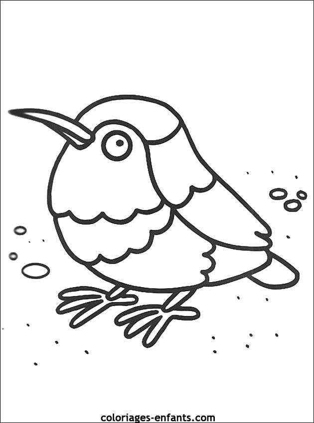 Coloriage d'oiseaux à imprimer de coloriages - enfants