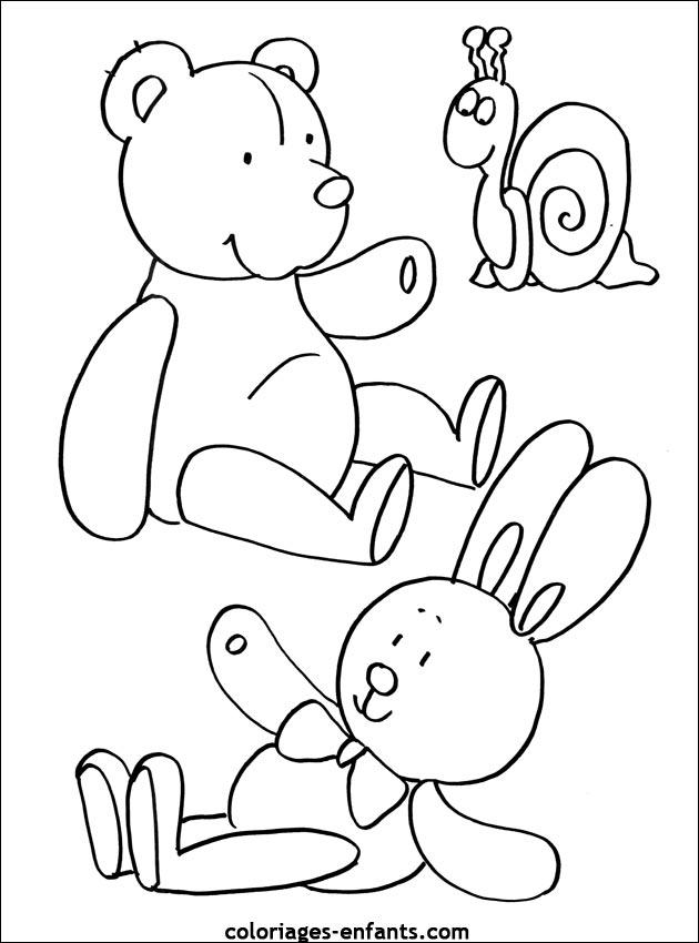 Coloriage d'ours de la rubrique animaux à imprimer de ...