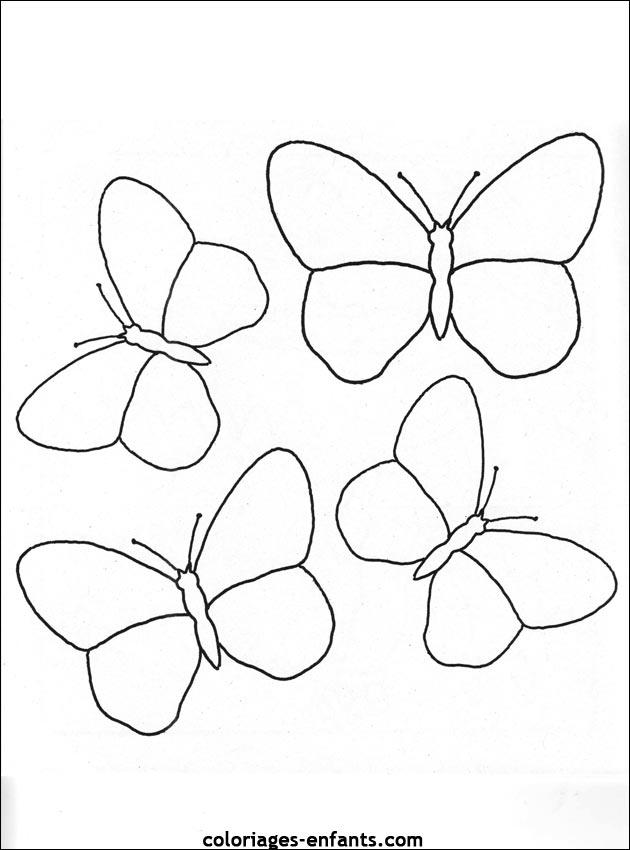 Coloriage D Papillons De La Rubrique Animaux A Imprimer De Coloriages Enfants