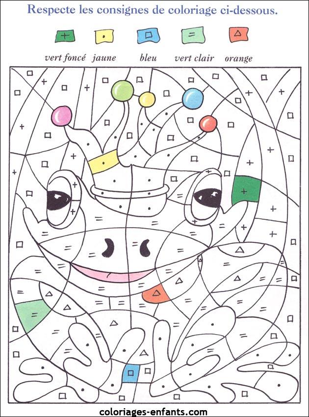 Coloriage Code Grenouille.Jeux De Grenouilles