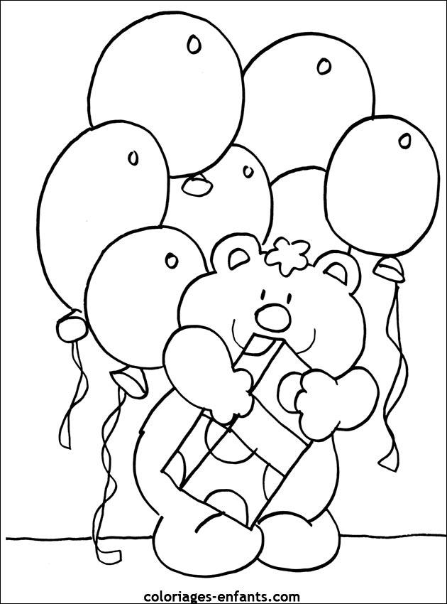 Coloriage D Anniversaire A Imprimer Sur Coloriages Enfants Com