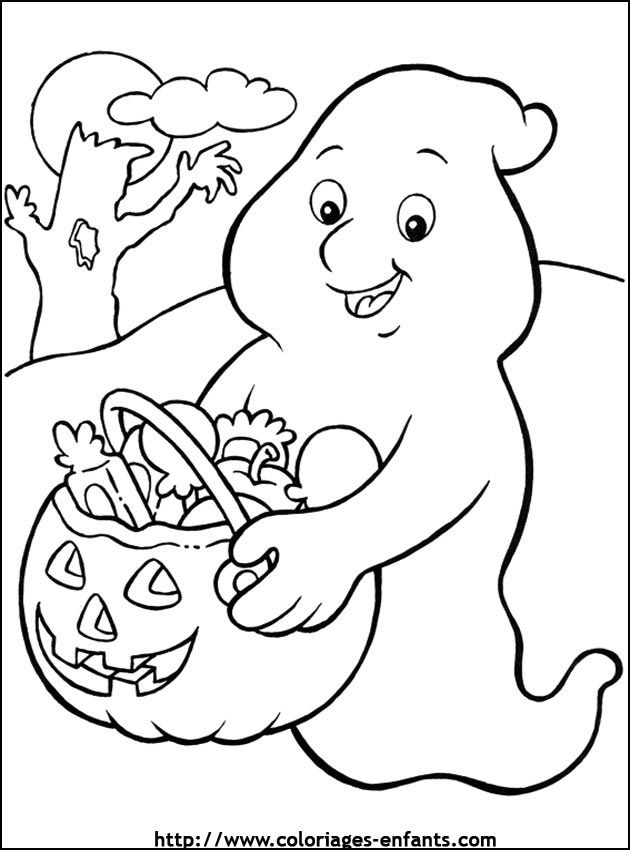 Coloriage d'halloween à imprimer sur coloriages-enfants.com