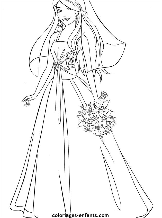 Coloriage de mariage à imprimer sur coloriages-enfants.com