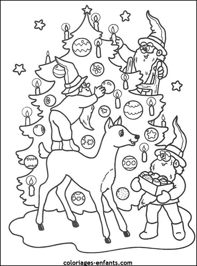 Coloriage de Noël à imprimer sur coloriages-enfants.com