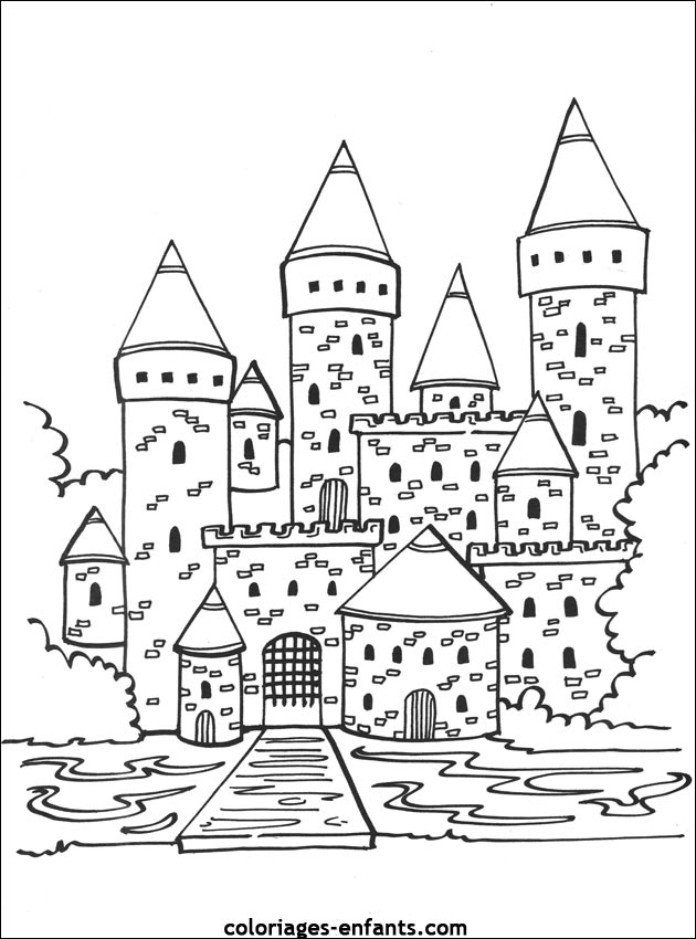 Un Chateau Fort A Colorier