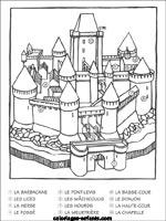 Coloriage Image Chateau.Coloriages Et Jeux De Chateaux Forts