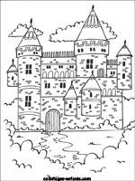 Coloriages Et Jeux De Chateaux Forts