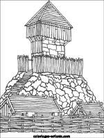 Coloriage Attaque Chateau Fort.Coloriages Et Jeux De Chateaux Forts