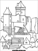 Coloriages et jeux de chateaux forts - Coloriage chateau disney ...