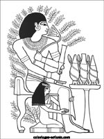 Coloriage Egypte Gif.Jeux Et Coloriages D Egypte