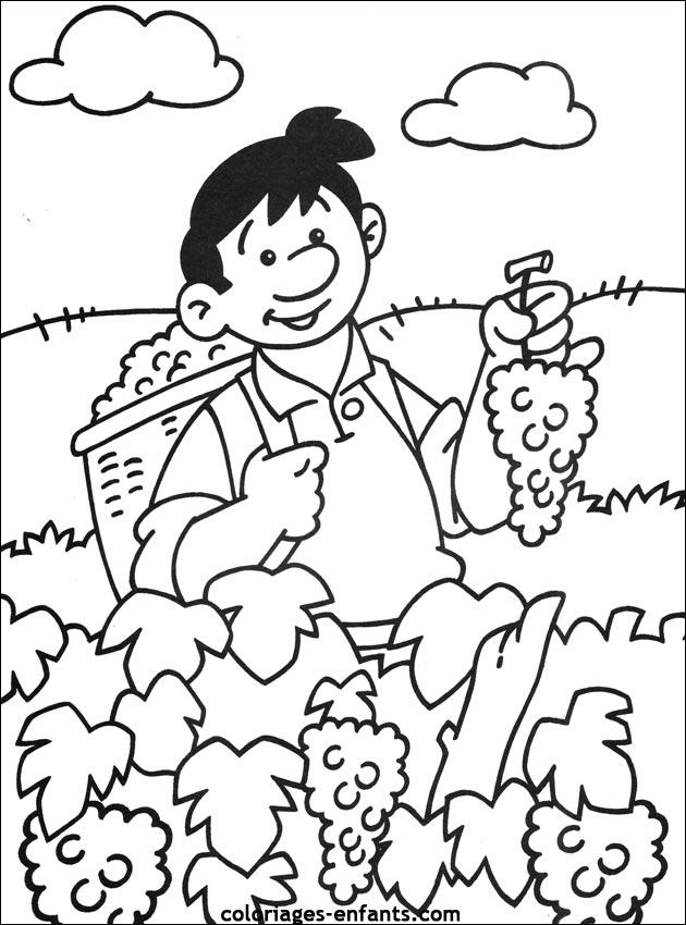 Les Coloriages de la ferme à imprimer